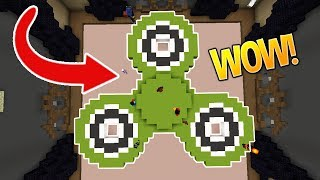 1000 MPH FIDGET SPINNER! (Minecraft Build Battle)