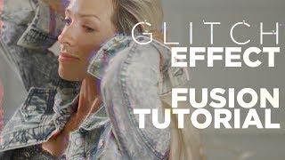 How to Make A Glitch Effect In Fusion - Davinci Resolve 15 Tutorial