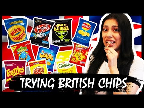 AMERICAN TRIES BRITISH SNACKS (CHIPS/CRISPS)