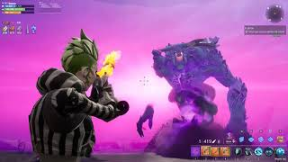 Defeating the Storm King with Music of Naruto (Fortnite Save the World)