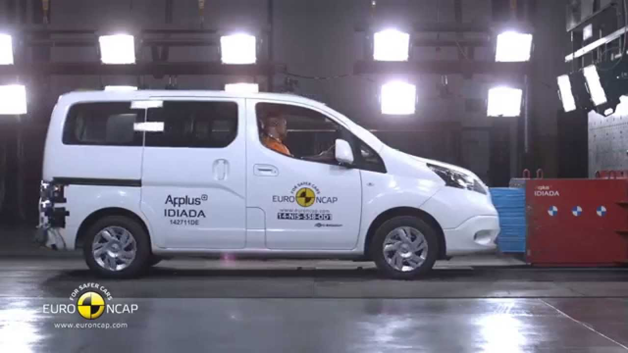euro ncap crash test of nissan e nv200 evalia 2014 youtube. Black Bedroom Furniture Sets. Home Design Ideas