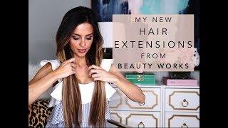 MY NEW HAIR EXTENSIONS | BEAUTY WORKS | Mia Mia Mine