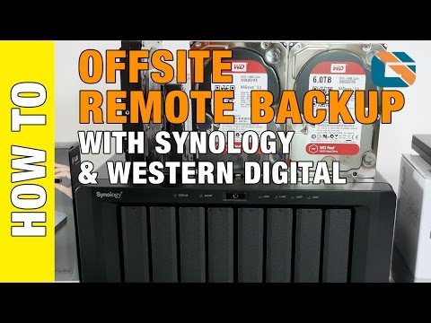 Offsite Remote Backup with Synology & Western Digital