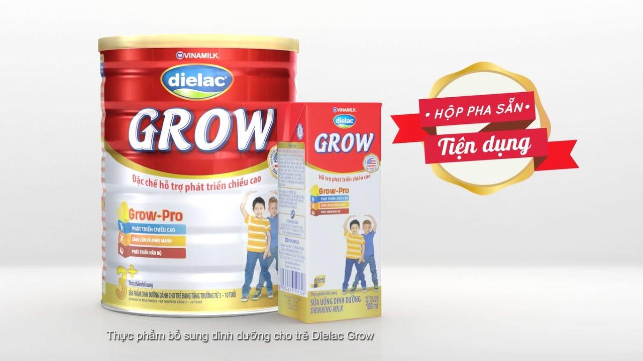 Quảng cáo Vinamilk cho bé mới nhất – Sữa bột pha sẵn Dielac Grow