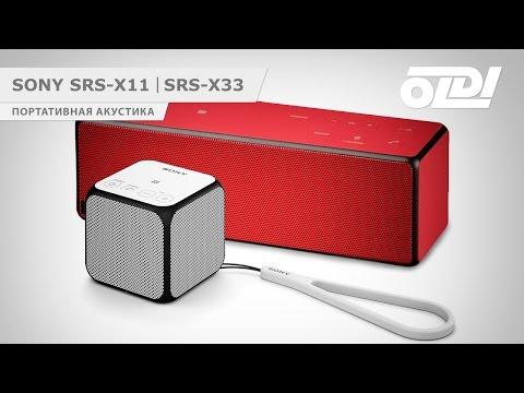 Портативная акустика SONY SRS-X11 и SONY SRS-X33