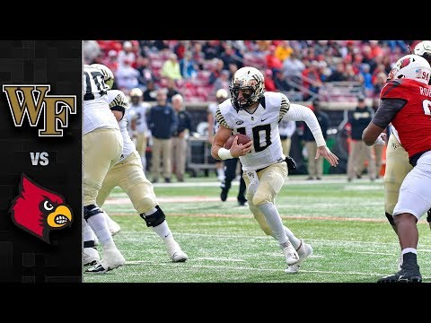 Wake Forest vs. Louisville Football Highlights (2018)