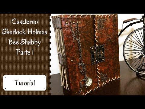 Cuaderno Sherlock Holmes en colaboración con Paraíso Scrapbooking PARTE 1