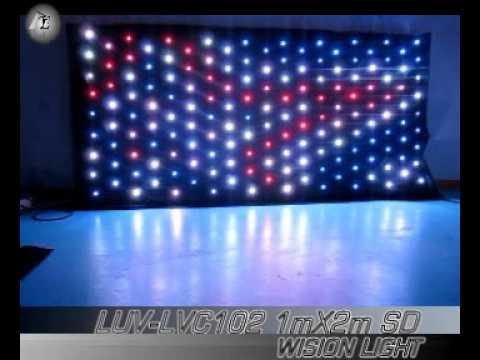 1mx2m led vision curtain DJ drape- sales@lightupvision.com