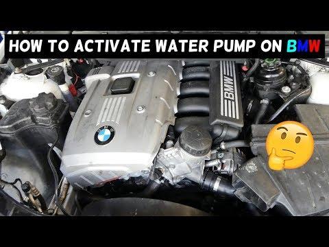 HOW TO ACTIVATE TEST WATER PUMP ON BMW E90 E91 E92 E93 E60 E61