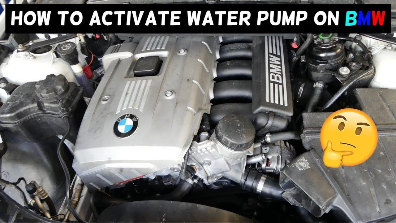 How To Activate Test Water Pump On Bmw E90 E91 E92 E93 E60