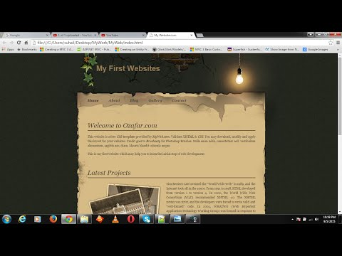 How to create an attractive dynamic website using HTML