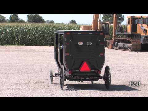 Solar-powered Amish buggy