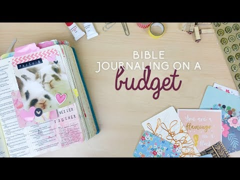 Bible journaling on a budget | Doodling Faith