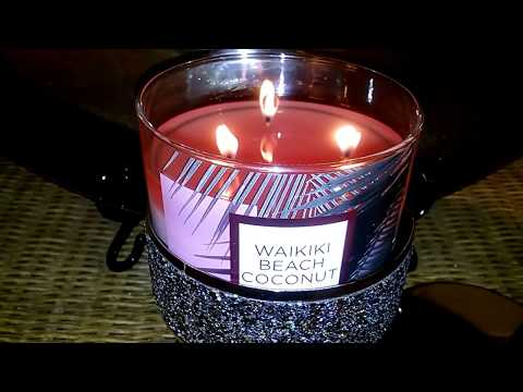 Review Of Bath And Body Works Waikiki Beach Coconut Candle