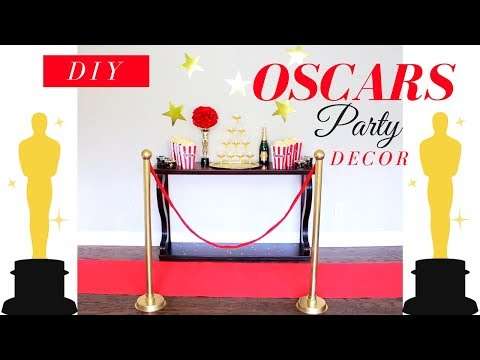 DIY STANCHIONS | DIY OSCARS PARTY DECOR