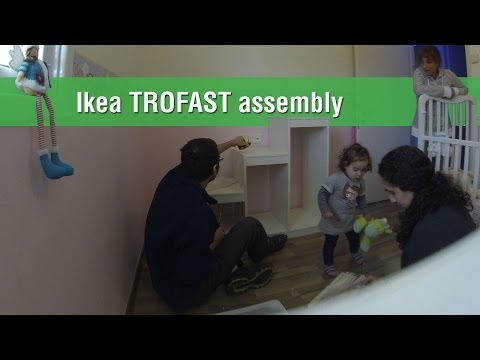 Ikea TROFAST assembly with the help of my baby girl