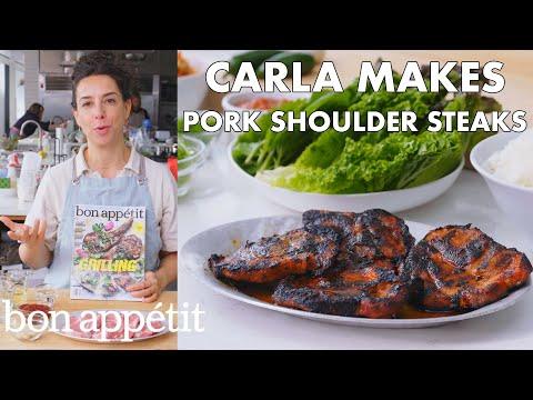 Carla Makes Pork Shoulder Steaks | From the Test Kitchen | Bon Appétit