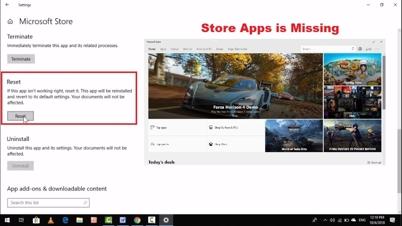 How to Restore Missing Store App in Windows 10 PC