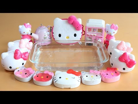 Special Hello Kitty! Mixing Makeup And Glitter Into Slime!  What Is  Secret Kitty Box?