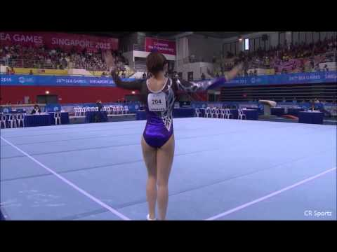 Farah Ann Malaysia Gymnastic world 2015 Slow motion - YouTube