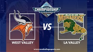 CCCAA Men's Water Polo Semifinal: West Valley vs LA Valley - 11/16/18 - 11:45am