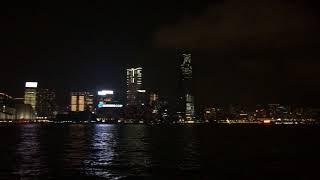 香港維多利亞港夜景燈光秀part1