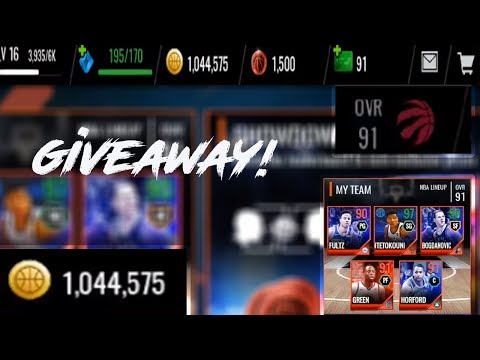 I WILL GIVEAWAY A 91 OVR NBA LIVE MOBILE ACCOUNT THAT HAS 1MILLION COINS AT 1K SUBS