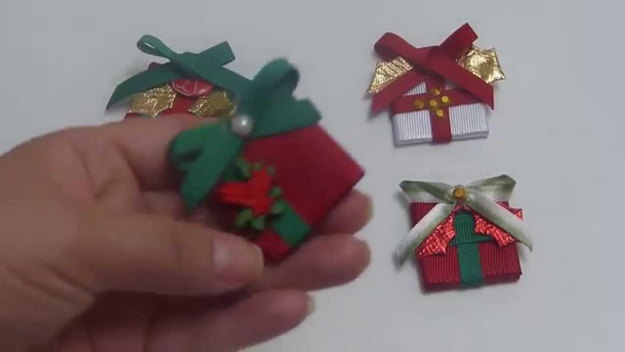 Clip caja de regalo navide o para decorar mo os lazos - Lazos grandes para decorar ...