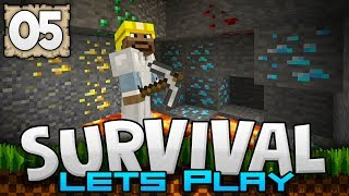 LUCKIEST MINING TRIP EVER!!! - Survival Let's Play Ep. 05 - Minecraft 1.2 (PE W10 XB1)