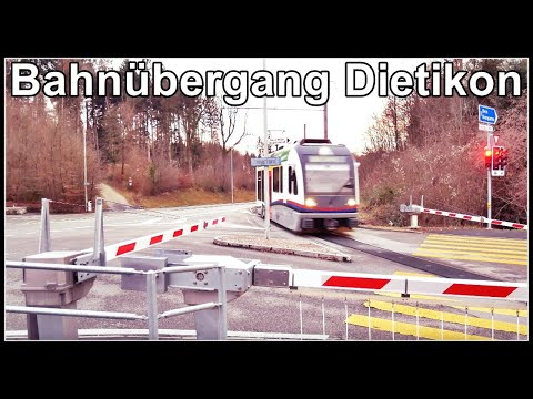 narrow-gauge railroad crossing / spezieller Bahnübergang bei Dietikon, Zürich, Schweiz 2020 from YouTube · Duration:  3 minutes 20 seconds