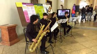 �������� ���� Pirates Of The Caribbean Sax Quartet - Open Day 2/4/2016 Conservatorio Verona ������