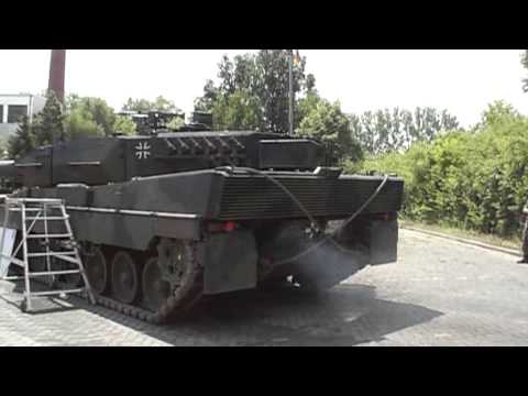Leopard 2 Sound - Engine (Motor) Start, Full Throttle (Vollgas), Engine (Motor) Stop