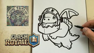 COMO DIBUJAR AL DRAGON INFERNAL - CLASH ROYALE