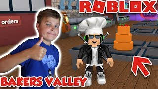 BAKING FANCY CAKES in ROBLOX BAKERS VALLEY