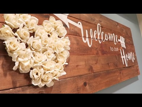 DIY Farmhouse Style Wall Decor - VLOG 180