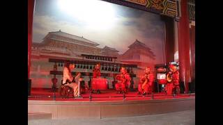 Chinese Music Performance A The Xian Drum Tower China