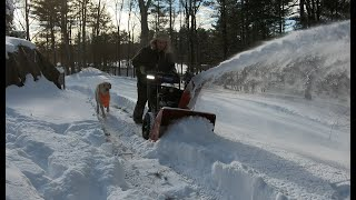 Testing new snowblowers