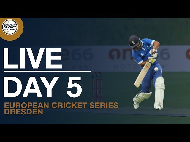 🔴 Live European Cricket Series Dresden, Germany, Day 5 | Cricket Live Stream
