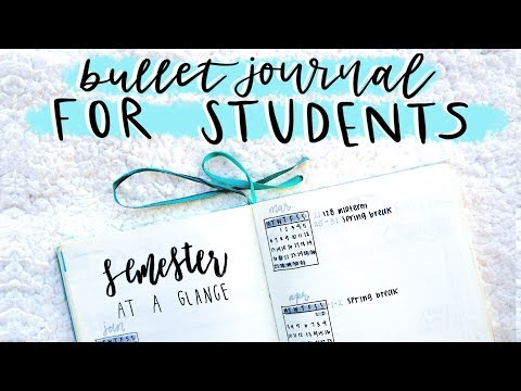 bullet journal prep for college students