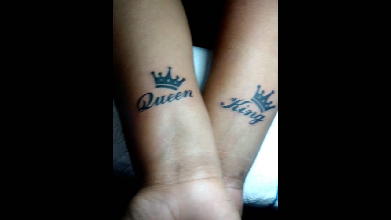 King Queen Con Corona En Antebrazo Youtube