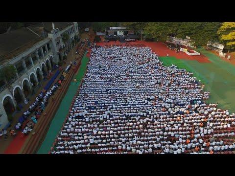 St Paul's high school Belgaum establishing guinness book of world record for largest reunoin
