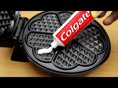 Thumbnail: EXPERIMENT WAFFLE IRON vs TOOTHPASTE