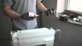 сборка радиатора отопления(подготовка, сборка радиатора отопления