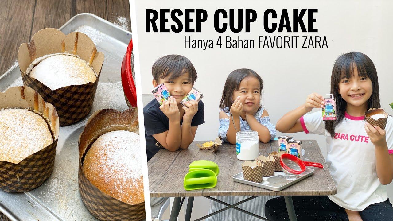 Resep Cup Cake Enak hanya 4 Bahan Favorit Zara Cute | Ft. Susu Cimory UHT Tayo