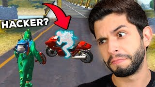 JÁ TEM HACKER?!? ENCONTREI UM PILOTO INVISÍVEL NA MOTO DO FREE FIRE!