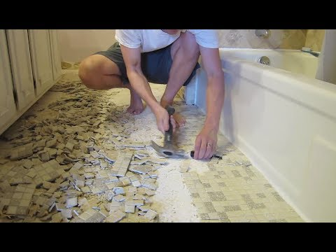 Bathroom Remodel - Cost Estimate, Materials, Demo, Floor Tile - (Part 1)