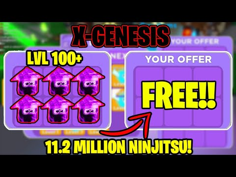 ⚔️I WAS *GIVEN* 8 OF THE BEST *X-GENESIS PETS* LEVEL 100+ IN NINJA LEGENDS THESE ARE INSANE!!!!⚔️