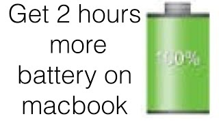 how to save 1 2 hours of battery life on your macbook pro must watch