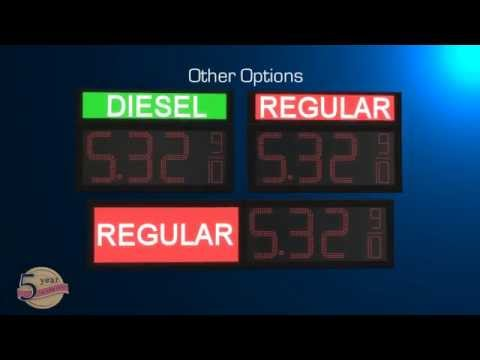 LED Gas Price signs Video - Petro LED