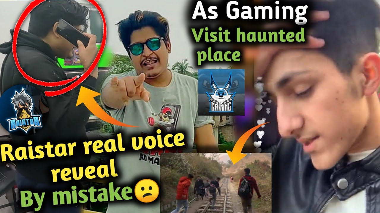 Raistar real voice reveal by mistake😮|| As gaming visit haunted place (vlog) || Free fire